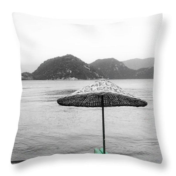 Calm Eve Throw Pillow by Svetlana Sewell