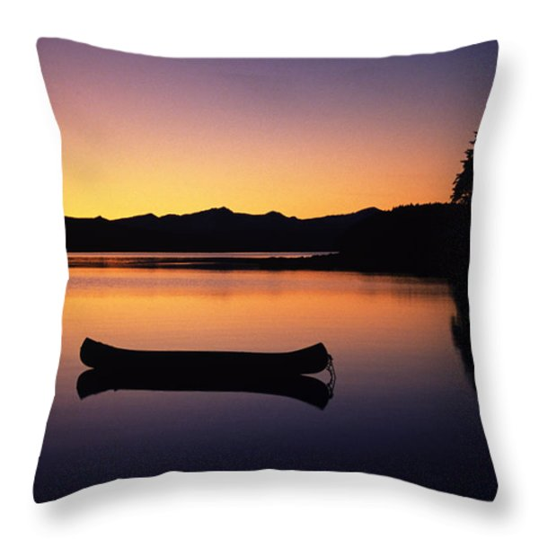 Calming Canoe Throw Pillow by John Hyde - Printscapes