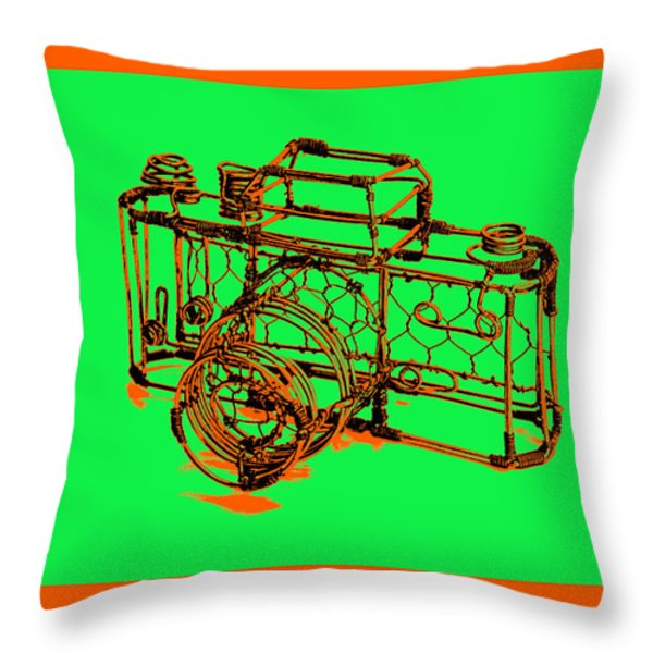 Camera 1c Throw Pillow by Mauro Celotti