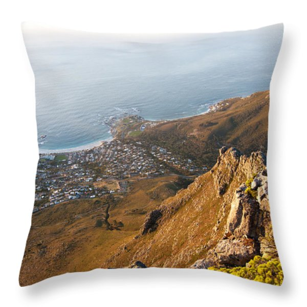 Camps Bay Throw Pillow by Fabrizio Troiani