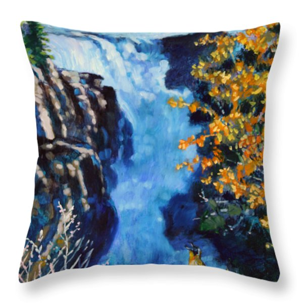 Can You Hear Me Throw Pillow by John Lautermilch