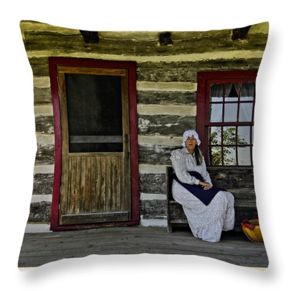 Canadian Gothic Throw Pillow by Steve Harrington