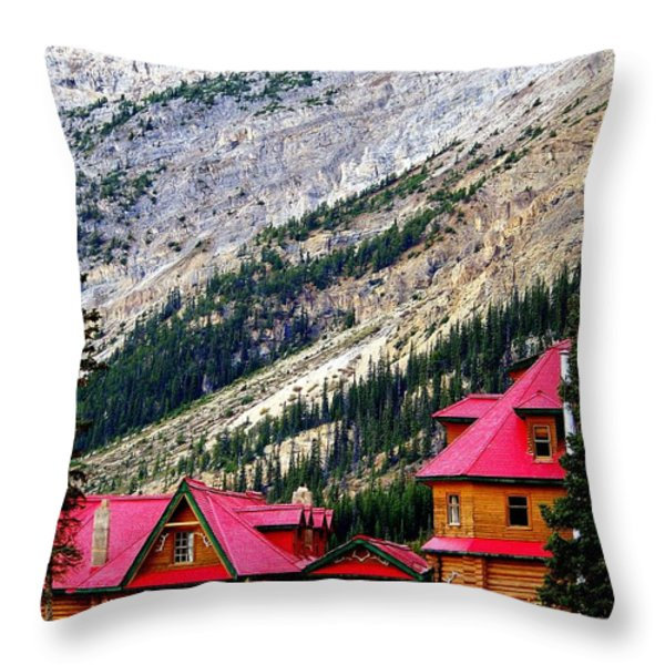 Canadian Red Throw Pillow by KAREN WILES