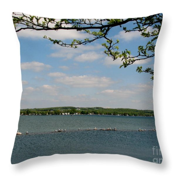 Canandaigua Lake Throw Pillow by Rose Santuci-Sofranko