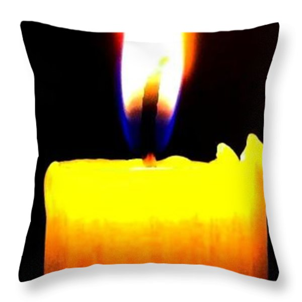 Candle Power Throw Pillow by Will Borden
