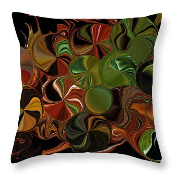 Candy Dish Throw Pillow by Steven Richardson
