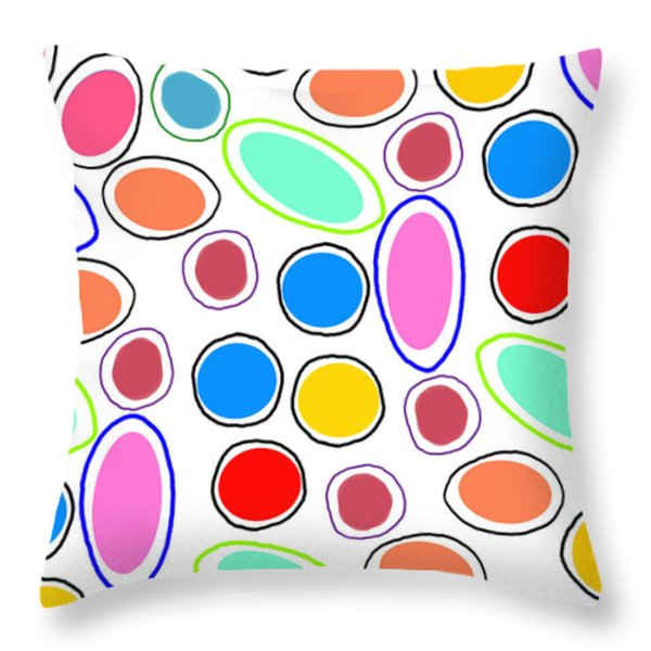 Candy Spots Throw Pillow by Louisa Knight