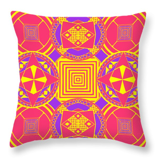 Candy Wrapper Throw Pillow by Sumit Mehndiratta