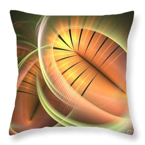 Canteloupe Throw Pillow by Kim Sy Ok