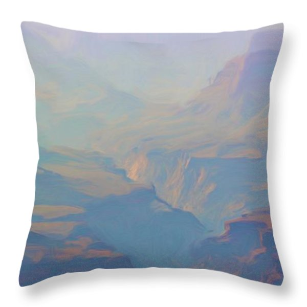 Canyon Close Up Throw Pillow by Heidi Smith