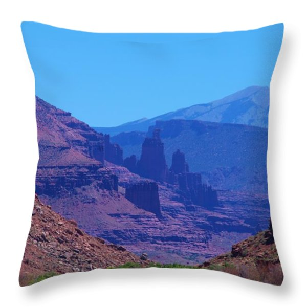 Canyon Colors Throw Pillow by Dany  Lison