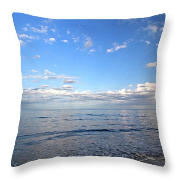 Cape Cod Summer Sky Throw Pillow by Juergen Roth