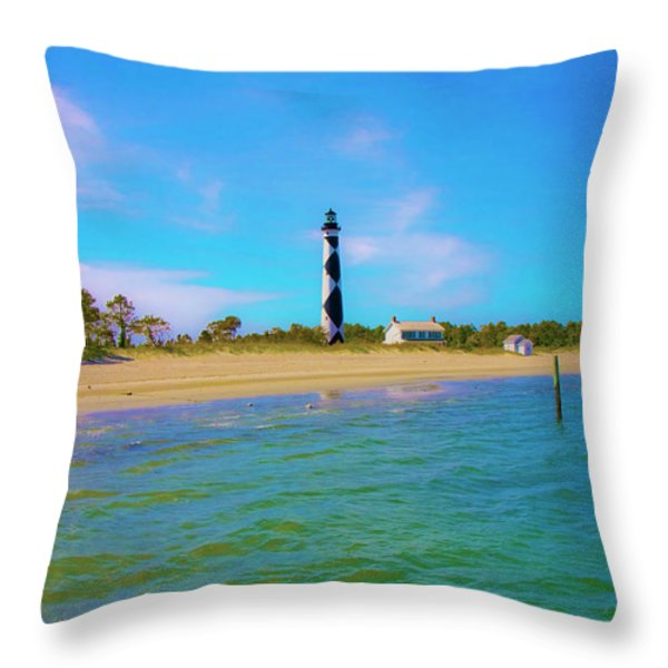 Cape Lookout 1 Throw Pillow by Betsy A  Cutler