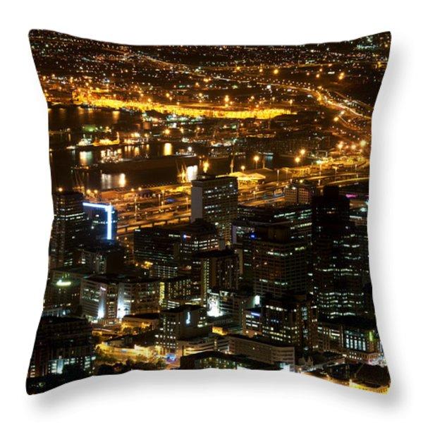 Cape Town Throw Pillow by Fabrizio Troiani