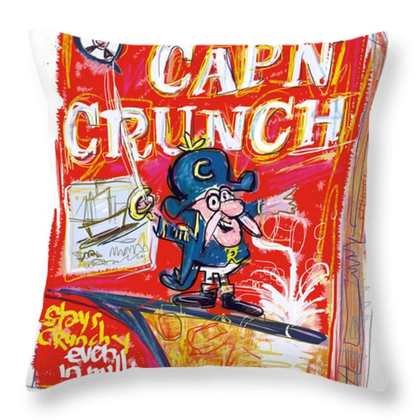 Capn Crunch Throw Pillow by Russell Pierce