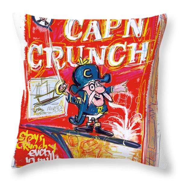 Capn Crunch Throw Pillow by Russell Pierce