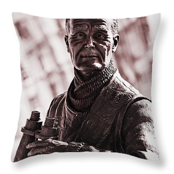 Captain F J Walker Throw Pillow by Meirion Matthias