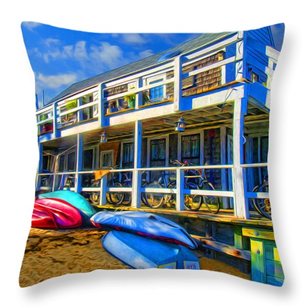 Captain Jack's At Sunrise Throw Pillow by Tammy Wetzel
