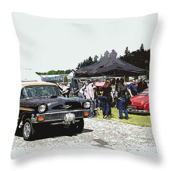 Car Show Gasser Throw Pillow by Steve McKinzie