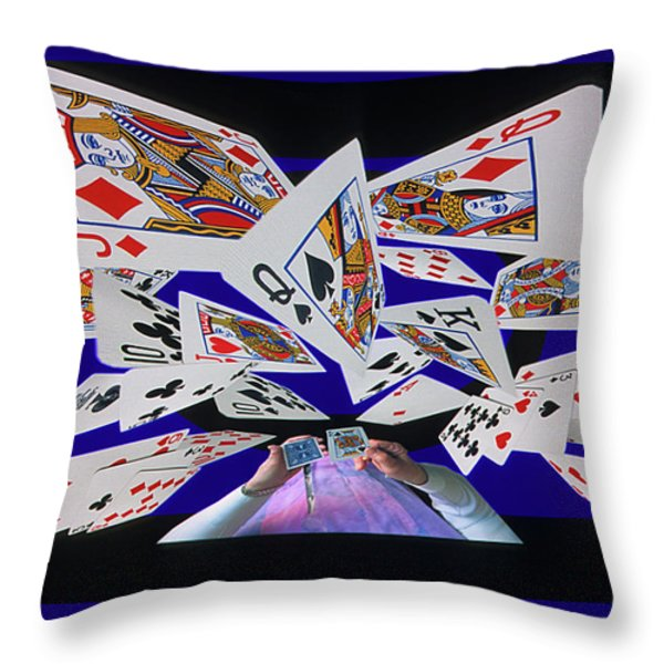Card Tricks Throw Pillow by Bob Christopher