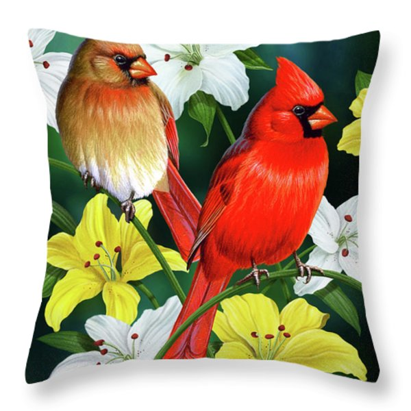 Cardinal Day 2 Throw Pillow by JQ Licensing