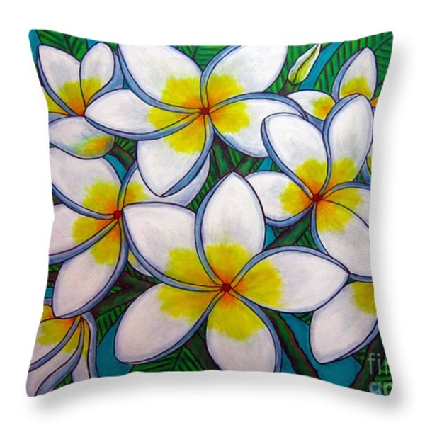 Caribbean Gems Throw Pillow by Lisa  Lorenz