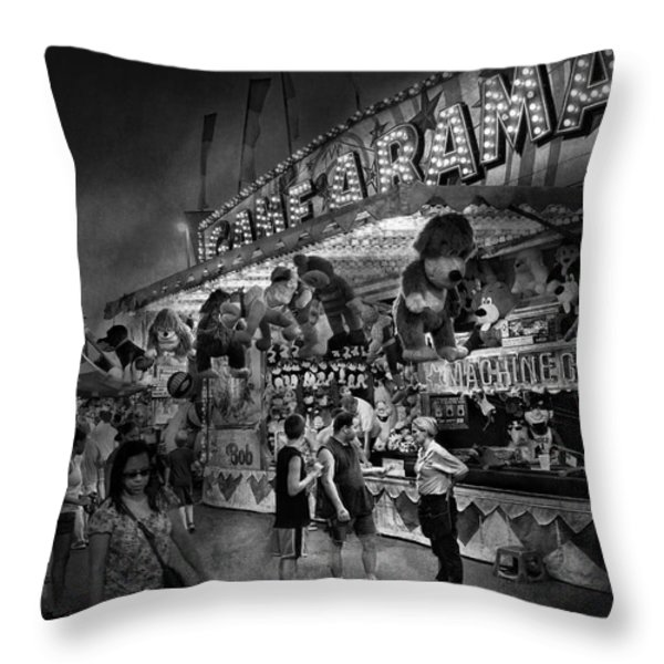 Carnival - Game-A-Rama Throw Pillow by Mike Savad