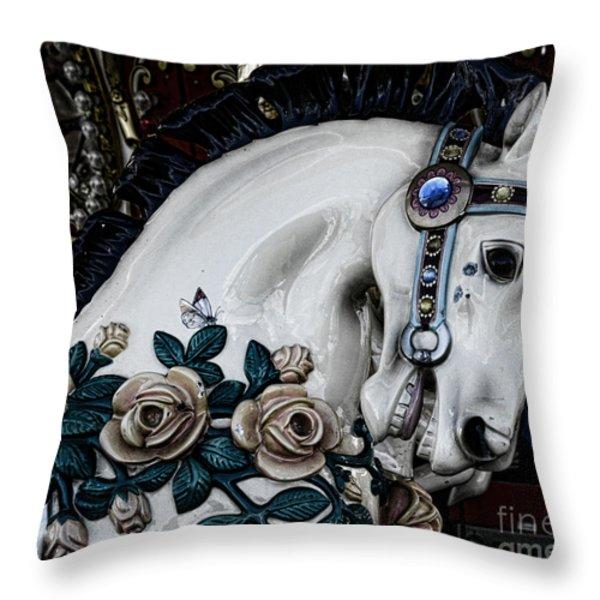 Carousel Horse - 8 Throw Pillow by Paul Ward