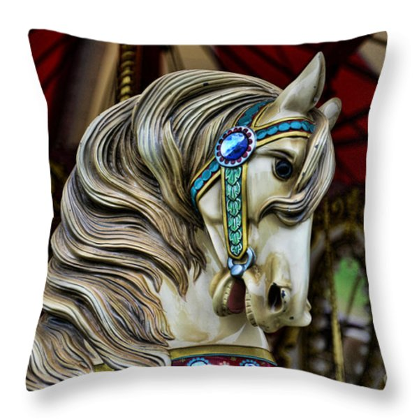 Carousel Horse 3 Throw Pillow by Paul Ward