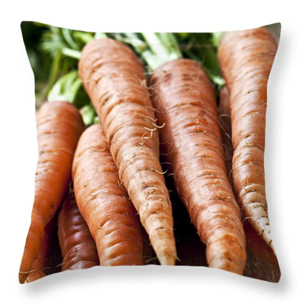 Carrots Throw Pillow by Elena Elisseeva