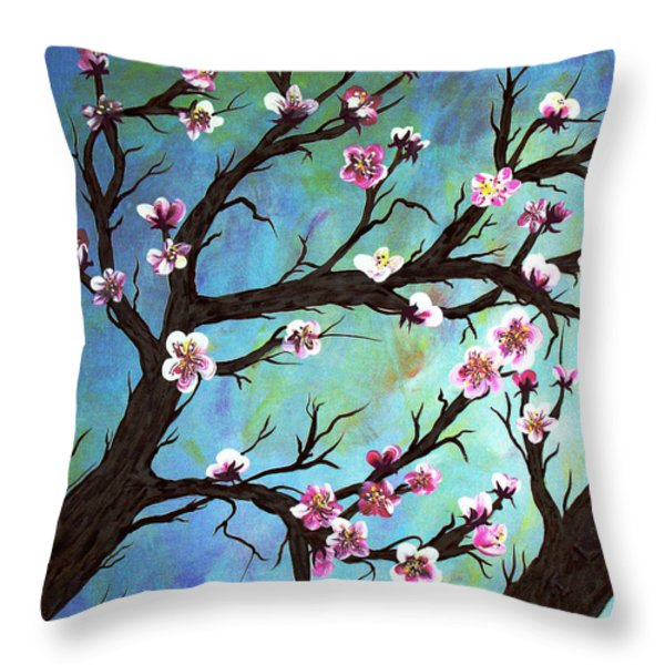 Carved In A Cherry Tree I Throw Pillow by Barbara Griffin