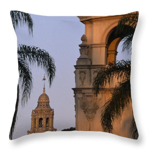 Casa Del Prado Theatre In Balboa Park Throw Pillow by Phil Schermeister