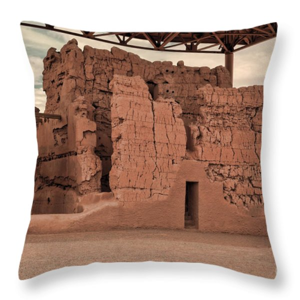 Casa Grande Ruins IIi Throw Pillow by Donna Van Vlack