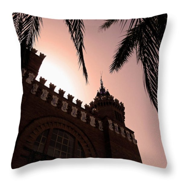 Castell Dels Tres Dragons - Barcelona Throw Pillow by Juergen Weiss