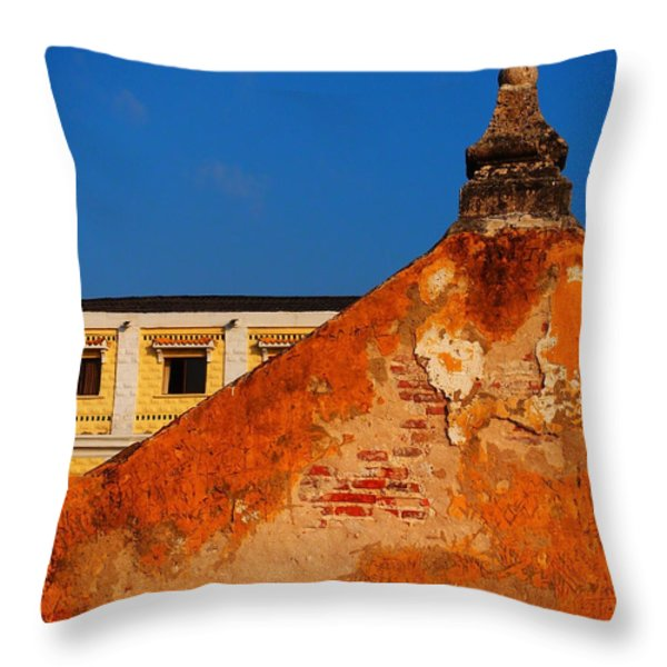Castillo de Oro Throw Pillow by Skip Hunt