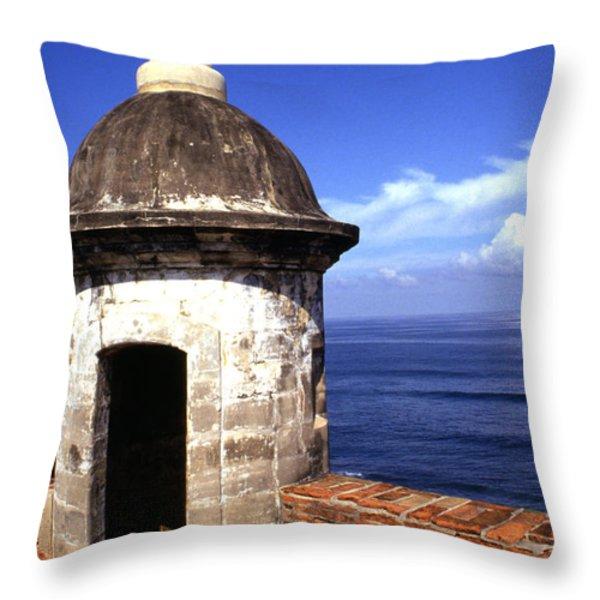 Castillo De San Cristobal Throw Pillow by Thomas R Fletcher