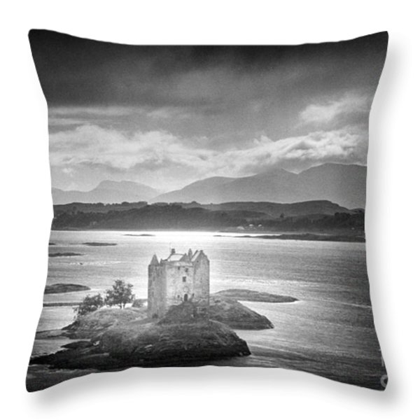 Castle Stalker Throw Pillow by Simon Marsden