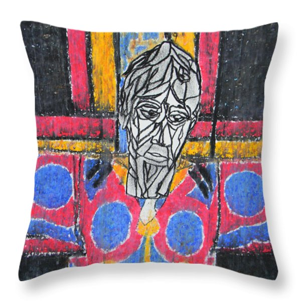 Catalan Jesus Throw Pillow by Marwan George Khoury