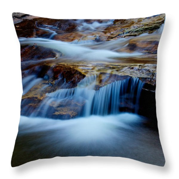 Cataract Falls Throw Pillow by Chad Dutson