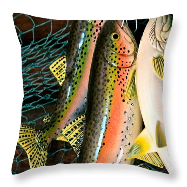 Catch Of The Day Throw Pillow by Karon Melillo DeVega