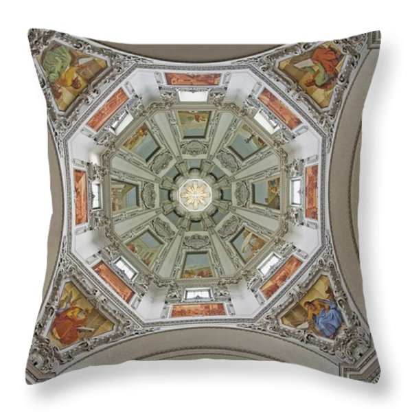 Cathedral Dome Interior, Close Up Throw Pillow by Axiom Photographic