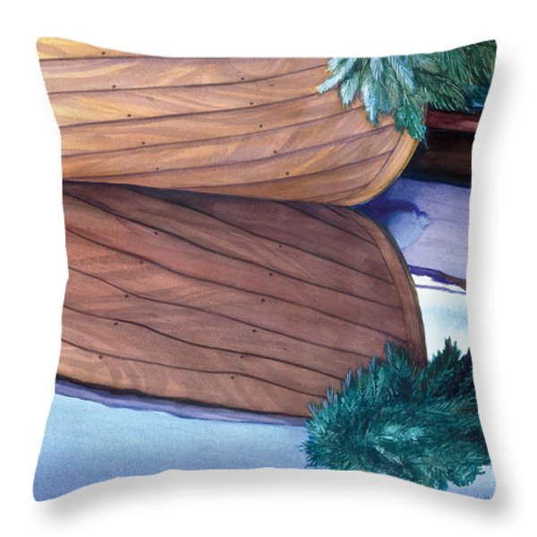 Catspaw With Wreath Throw Pillow by Marguerite Chadwick-Juner