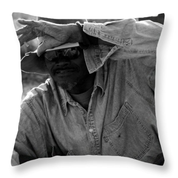 Cautious Expectation Throw Pillow by Elizabeth Hart