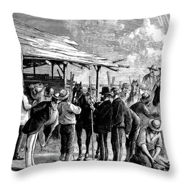 Cavalry Horses, 1876 Throw Pillow by Granger