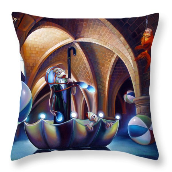 Caverna Magica Throw Pillow by Patrick Anthony Pierson