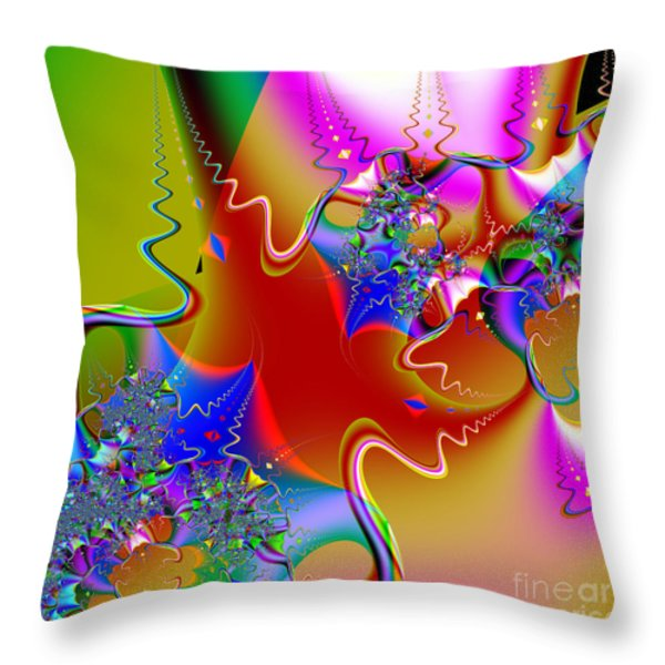 Celebration . Square . S16 Throw Pillow by Wingsdomain Art and Photography