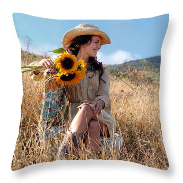 Celeste 1 Throw Pillow by Dawn Eshelman