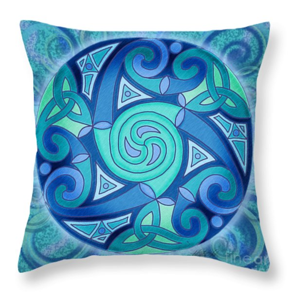 Celtic Planet Throw Pillow by Kristen Fox