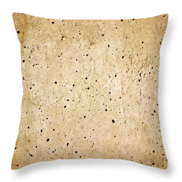 Cement Wall Throw Pillow by Carlos Caetano