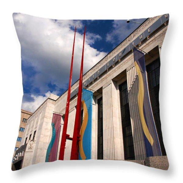 Center For Visual Art Nashville Throw Pillow by Susanne Van Hulst